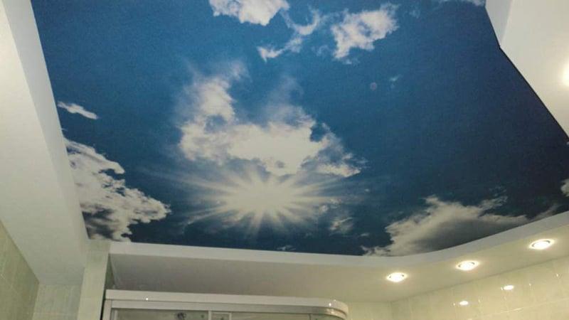Потолок, подходящий под морскую тематику