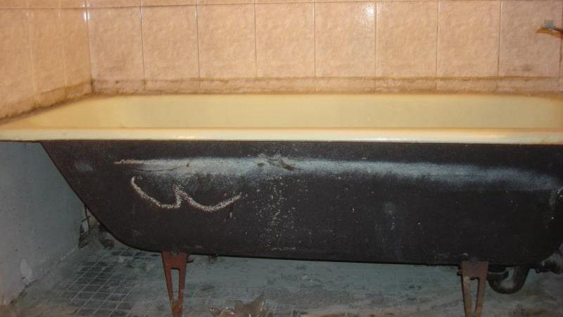 Демонтаж старой ванны